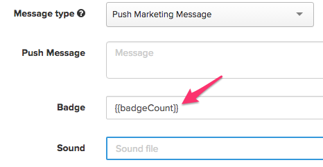 Using Iterable to specify the badge count associated with an iOS push notification