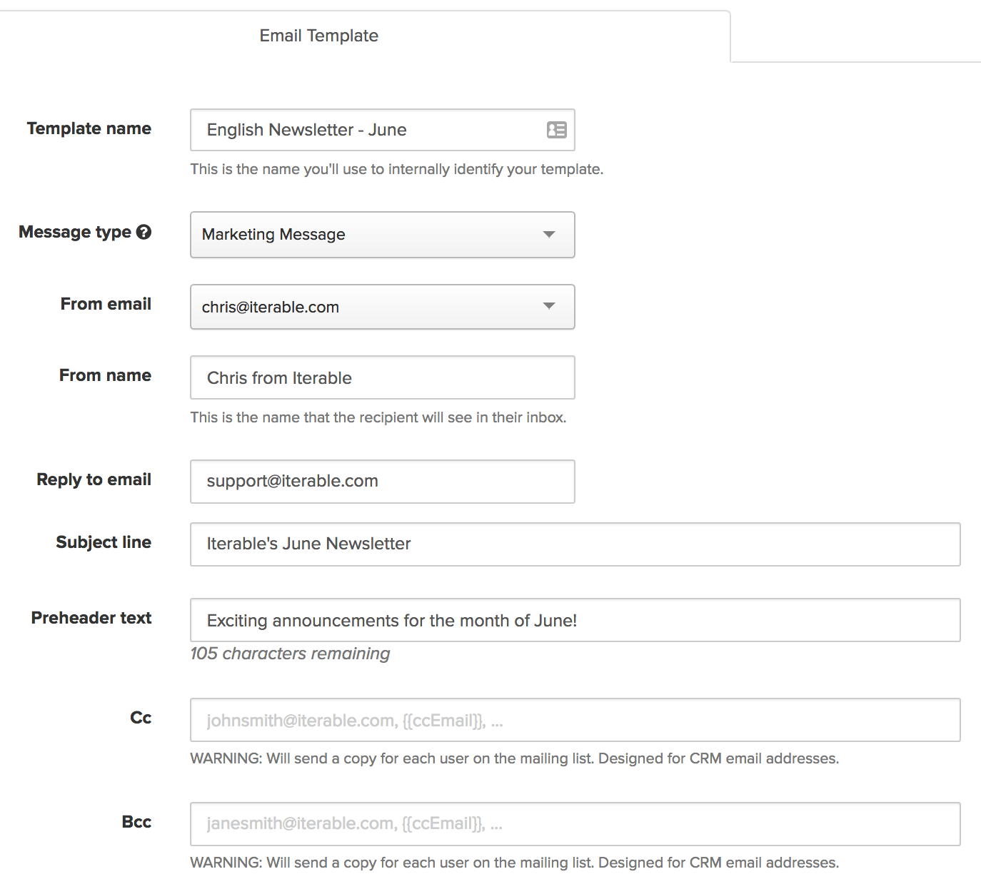 Template Overview – Iterable Support Center