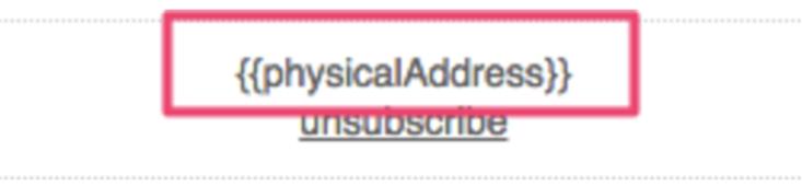 Example usage of {{physicalAddress}}