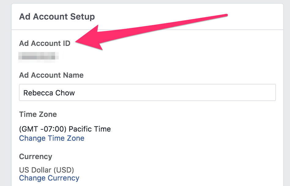 Ad Account ID
