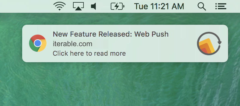 A web push notification