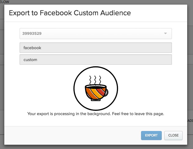 Exporting to a Facebook Custom Audience