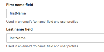 First Name Field and Last Name Field