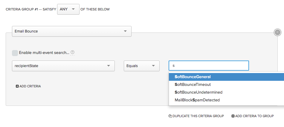 Querying for bounces in the segmentation tool
