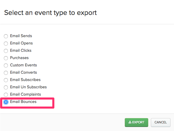 Selecting Email Bounces