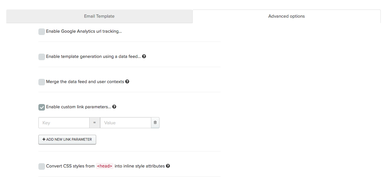 Enabling custom link parameters in Iterable