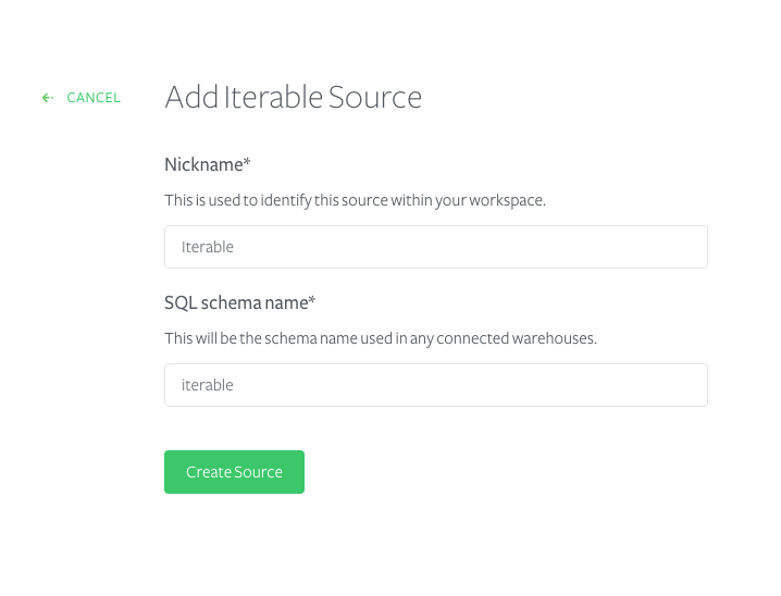 Adding an Iterable source to Segment