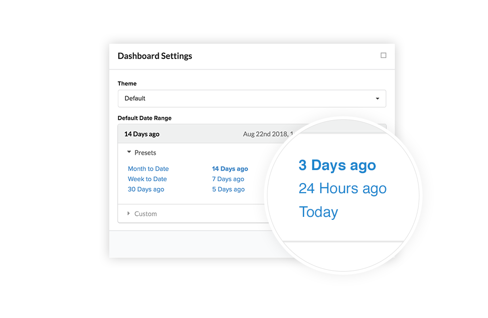 Iterable dashboard settings