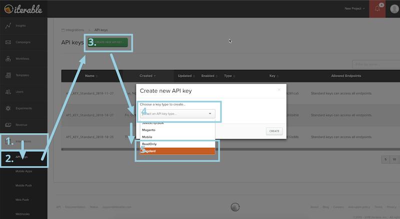 Creating an Iterable API key