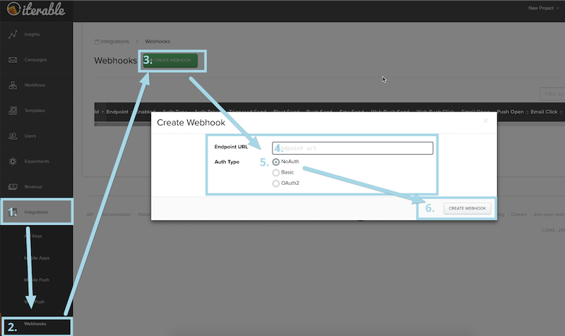 Creating a webhook
