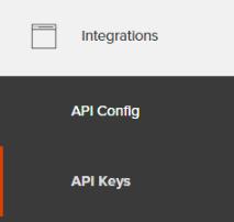 The API Keys menu item in Iterable