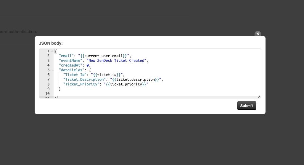 Testing a webhook in Zendesk