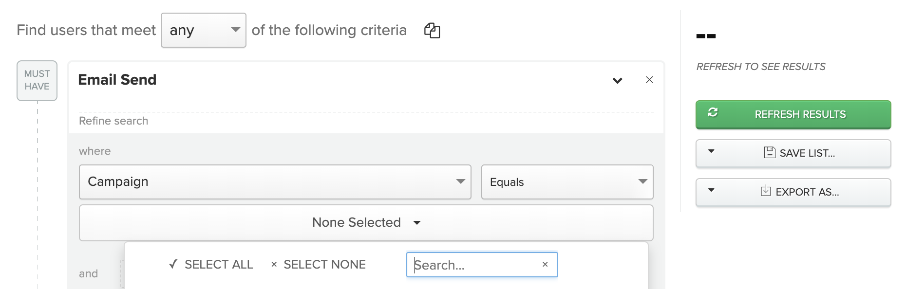 """Multi-event search input"""