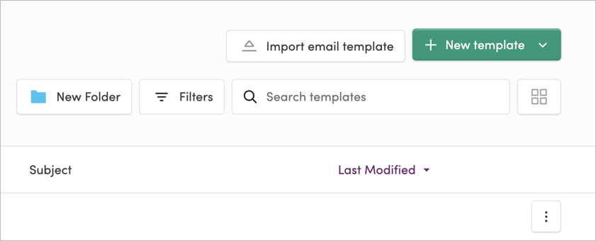 The Import Email Template button