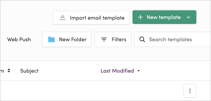 The New Folder button