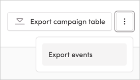 Export events menu item