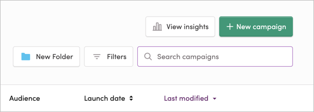 Searching your campaigns